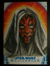 Topps Star Wars sketch card proof return by Worton Masterwork Gold