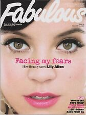 FABULOUS UK Magazine No 55, 22 Ferbruary 2009, Lily Allen