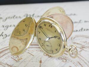 GLASHÜTTE i/SA LANGE-UHR Sprungdeckel Taschenuhr 0.585 14K Gold pocket watch