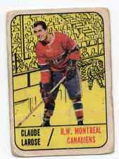 1X CLAUDE LAROSE 1967 68 Topps #4 RC Rookie G Montreal Canadiens