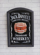 Retro Black + White Jack Daniels Whiskey Pub Sign Wall Bar Decor Plaque Vintage