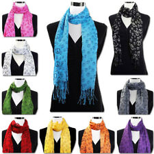 Wholesale Lot of 100 Peace Sign Oblong Scarves Assorted Colors Brand New SALE!