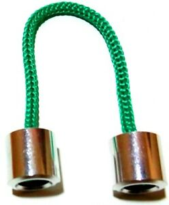 WORRY BEADS ALUMINIUM GREEN Begleri Fidget Finger Toy Corded 2 Beads Anti Stress