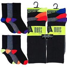 24 Pairs of Mens Black Rich Sport Socks Work Designer Heel and Toe SK173