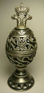 Rare Silver 84 Antique Easter Egg Box Imperial Russia
