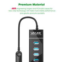 4 Port USB HUB USB3.0 Multi Splitter Expander Computer Super Speed for Laptop PC