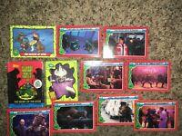 Topps Teenage Mutant Ninja Turtles - 10 Card Lot 1989 Animated 1990 Movie RARE