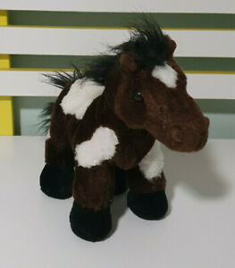 GANZ  BROWN HORSE PLUSH TOY SOFT TOY CUTE TOY ABOUT 20CM TALL STUFFED ANIMAL
