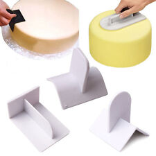 Cake Edge Top Smoother Paddle Tool Sugarcraft Icing Fondant Polisher Finisher HS