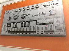 "FRAMED Roland TB 303 BassLine 'ACID HOUSE' Synth print onA3 Aluminium 18x14"" NEW"