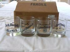 JACK DANIELS FOUR DIFFERENT LOW BALL GLASSES WITH ORIG BOX