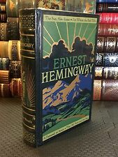 Four Novels (Old Man And Sea +) by Ernest Hemingway- Leather Bound & New!