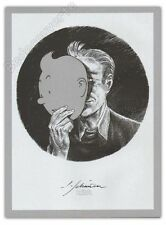 Ex-libris Sérigraphie SCHUITEN Hommage à Tintin non signé 23x31 cm