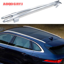 Silver Aluminum alloy For Jaguar F-PACE 2016-2019 Roof Rail Luggage Carrier Rack