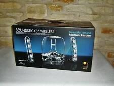 NEW HARMAN KARDON SOUNDSTICKS BLUETOOTH WIRELESS 2.1 CHANNEL SPEAKER SYSTEM