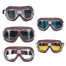 Adult Retro Vintage Flying Pilot Motorcycle Bike Helmet Goggles Eyewear Glasses