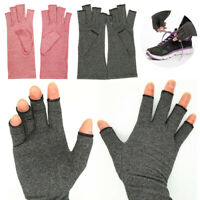 Medical Anti Arthritis Compression Therapy Fingerless Gloves Support Brace 2Pcs