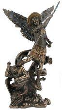 Archangel St Michael Statue -Poly Resin and Bronze Cast - 34(H) x 18(W) x12(D)cm