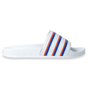 Adidas Adilette (weiß/blau/orange) FU9888