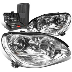 For 2000-2006 Mercedes S430 S500 Chrome Housing Projector Headlights+Tool Box