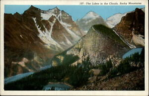Colorado Lakes in Clouds Rocky Mountains National Park ~ postcard sku675
