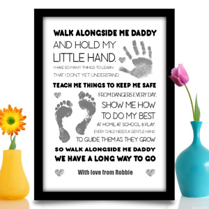 Father to be gift Newborn Dad Daddy Birthday personalised poem A4 gloss print