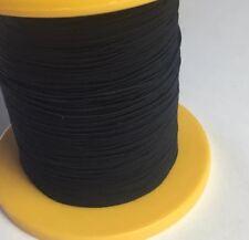 Bulk Black Shirring Smocking Elastic, Decoration, 1.4 Mm Polyester 300 Metres