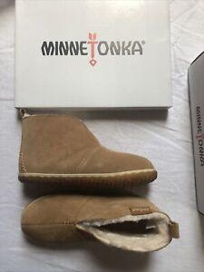 Minnetonka Women's Tuscan Bootie Size 7M Cinnamon New In Box