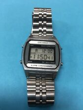 Vintage SEIKO A904-5000 MEN'S LCD DIGITAL CHRONOGRAPH + ORIGINAL BRACELET