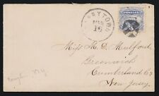 US 114 3c Locomotive on Cover from Tarrytown, NY SCV $25