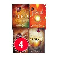 Rhonda Byrne The Secret Series 4 Books Collection Set Hero, Power, Magic, Secret