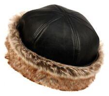 Winter Faux Leather/Faux Fox Fur/Bucket Hat/Russian Cloche Hat/Angela Williams