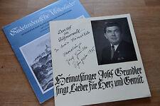 Sudetendeutsche Volkslieder / Heimatsänger Josef Grundler (Autogramm) 2LP 10 inc