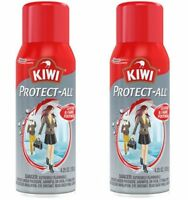 2 KIWI Protect All Shoe Protector Spray Water Repellant Leather Suede Footwear
