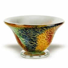 Imported Hand Painted Fruit/  Candy Bowl in Gorgeous Multi Firestorm Design