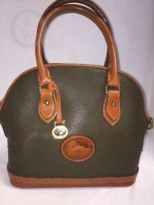 Vintage Dooney & Bourke~AWL~OLIVE Green*Norfolk Satchel*17295A S222