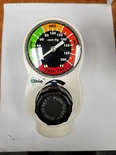 Ohio Push-To-Set 1224 Continuous 3-Mode Vacuum Regulator (Analog Gauge)