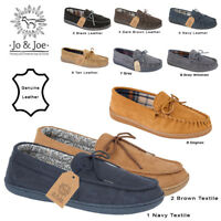 MENS LEATHER & TEXTILE MOCCASINS LOAFERS LACE UP GENTS SHOES SLIPPERS UK 7-12