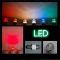 LED 0,6W E14 klar grün farbig Kronleuchter Tropfenlampe