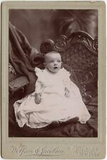 BABY IN WICKER CHAIR BY WOLFSON + JACOBSON, NEW YORK, CABINET PHOTO