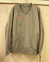 IZOD Size Small New Mens Golf Windbreaker Shirt Silver X-treme Function