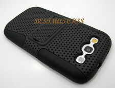 for Samsung galaxy i9300 s3 S III case cover black kickstand 2 layer hard soft