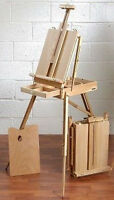 Loxley KENT Artists Wooden Box Storage Studio / Sketching Easel & Carrying Strap