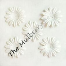 "20 1"" White MULBERRY PAPER DAISY FLOWERS, Cards scrapbk"