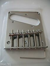 NEW Bridge TELECASTER CHROME 6 saddles vintage - guitare tele