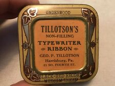 TILLOTSON'S Typewriter Ribbon Vintage Tin, Harrisburg, Pa.