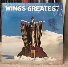 """Paul McCartney """"Wings Greatest"""" PROMO LP in Shrink w HYPE STICKER + POSTER"""