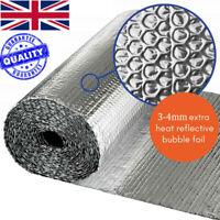 Double Aluminium Bubble Foil Insulation Thermal Loft Van Shed 10M 25M 40M 50M