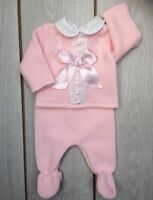 Baby Girls Romany Spanish 2 Piece Knitted Pink summer Set/Outfit 6-9 Months