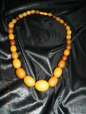 $$$Schöne Bernstein Amber Butterscotch farbene Bakelit Oliven Kette $$$